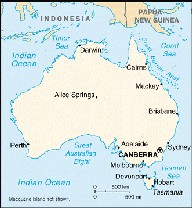 map showing major cities in australia the following images were taken near the city of brisbane on the east coast of queensland and new south wales